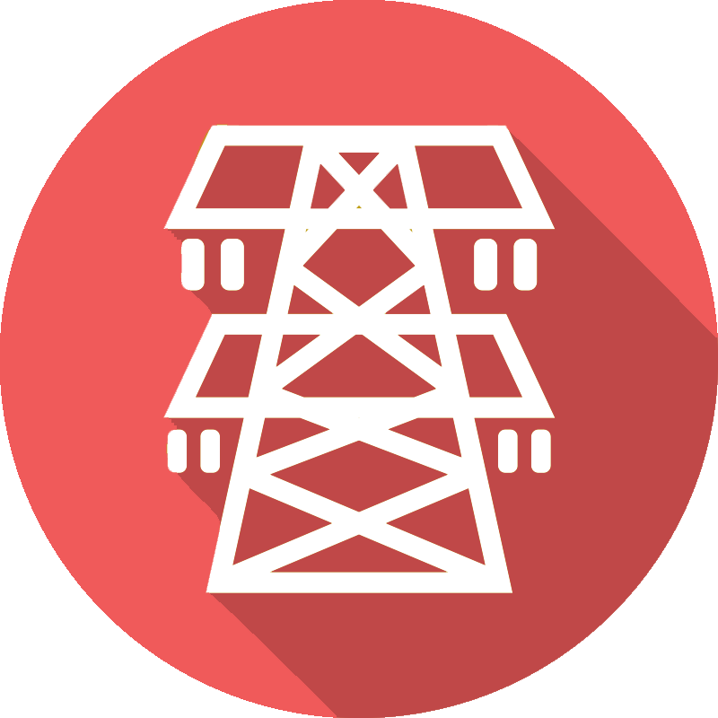 Electricity pylon icon